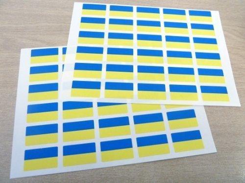 Paquete de 60 , 33x20mm , Ucrania Auto-adherente Bandera Pegatinas , Ucrania autoadhesivo Bandera Etiquetas
