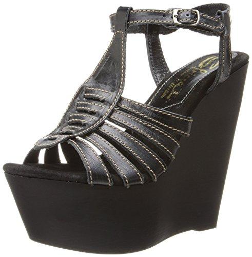 Sbicca Edmonds Damen Leder Keilabsätze Sandale Black