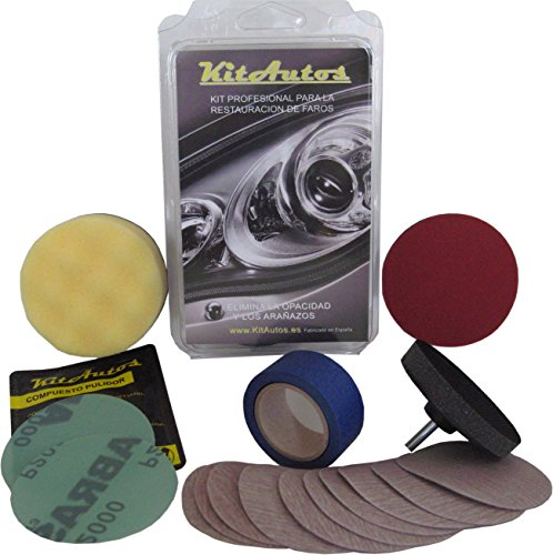 Kit para pulir faros KITAUTOS KF75MM