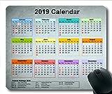 2019 Kalender Mauspad Benutzerdefiniert, Kalender jährlich Gaming-Mauspads, Kalenderplaner 2019 mit Feiertagsdetails