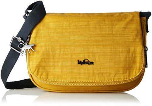 Kipling - Earthbeat S, Bolsos bandolera Mujer, Yellow (Dazz Corn), 26x17x7 cm (W x H x L)