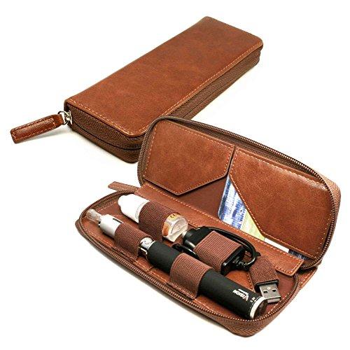 tuff-luv-e-cig-vape-pen-vintage-faux-cas-de-voyage-en-cuir-de-luxe-vape-pen-support-de-recharge-brun