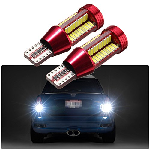 FEZZ Auto LED Bulbs CANBUS T15 W16W 921 4014 78SMD for Backup Reverse Brake Tail Lights Lamps