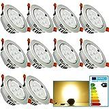 VINGO® LED 7W Einbaustrahler Geringe Einbautiefe Warmweiß Dimmbar Einbauleuchten für