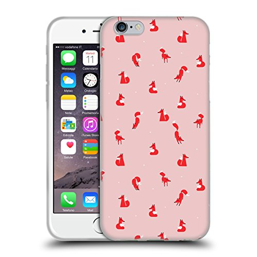 Ufficiale Robert Farkas Volpe DInverno Donna Volpe Cover Morbida In Gel Per Apple iPhone 6 Plus / 6s Plus Volpe DInverno Uomo
