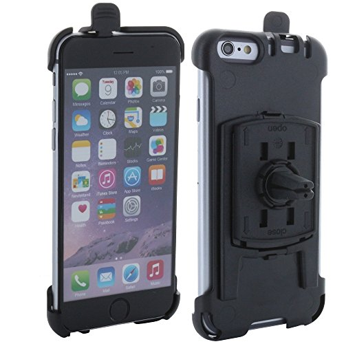 XiRRiX Handy Smartphone KFZ Halterung Lüftung Lammellen - Auto Halter speziell für Apple iPhone 6 6S - drehbar - einfache und schnelle Montage