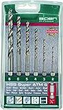 alpen HSS Super Spiralbohrer, 1/4 Zoll Sechskant-Schaft, ähnlich DIN 338 RN, Durchmesser 2-8 mm als 6-teiliger Satz in der Kunststoffkassette, 100806100
