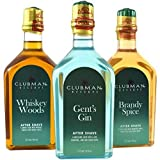 Pinaud Clubman reservieren Trio Aftershave Lotionen inklusive Whiskey Wälder, Herren GIN UND BRANDY Gewürze Duft spritz Flaschen 3 x 177ml