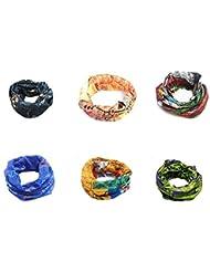6pcs/pack, al aire libre multifuncional Unisex moda Cool deportes bufanda diadema/pañuelos para equitación ciclismo Camping senderismo
