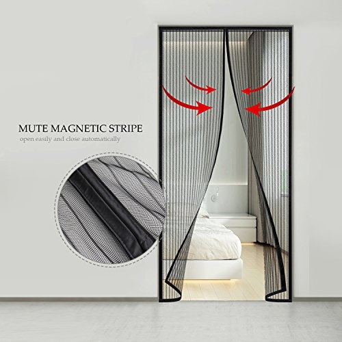 Moustiquaire porte Magnétique, Vitutech Moustiquaire rideau ...