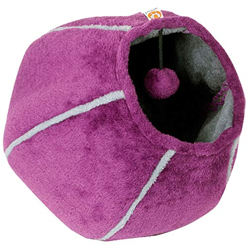 United pets-cat cave letto, 35x 35cm, colore: viola/grigio
