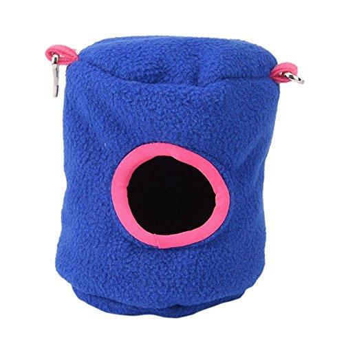 Refugio para hámster de Aolvo, caseta colgante para mascotas, amorosa, con orificio de goteo, para hámsters, conejillos de indias, conejos, ardillas, erizos y ratas, de color rosado
