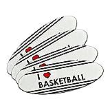 I love Herz Basketball doppelseitig oval Nagelfeile Emery Board Set 4Stück