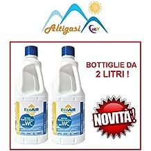 Sanity WC - Líquido para depósito de aguas residuales, con principio activo de Aqua Kem