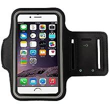 Tongshi Brazalete Gimnasio Correr caso de la cubierta del deporte del brazal para el iphone 6 4.7 pulgadas(Negro)