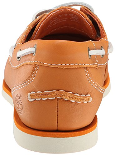 Timberland Women s EK Classic Amherst Boat Shoe Flat  Apricot Buff Gluvy  5 5 W US