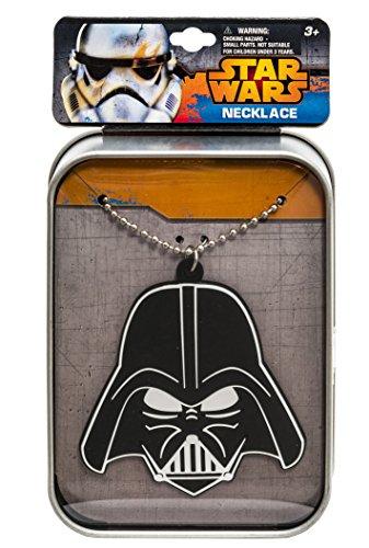 Elite Kostüm Schmuck - Star Wars 90123 - Darth Vader Kette mit Vinylanhänger in bedruckter Sammeldose, Metall, 3 x 8 x 11 cm