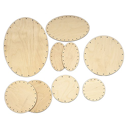 Zita\'s Creative Korbboden Set bogig, groß für Peddigrohr 2mm und 3mm - Flechten, Korbflechten, Schilf Set, Peddigrohr, Flechtmaterial, Flechtset, Rattan