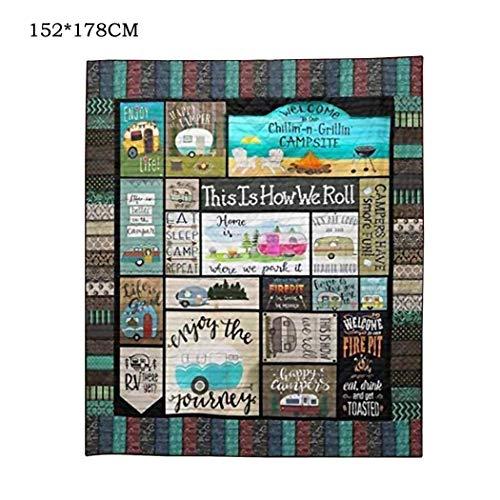 Outdoor-quilt (Jintes Outdoor Camping Picknick Roll Quilt Blanket Home Dekorative Quilts für Geschenke Isomatten)