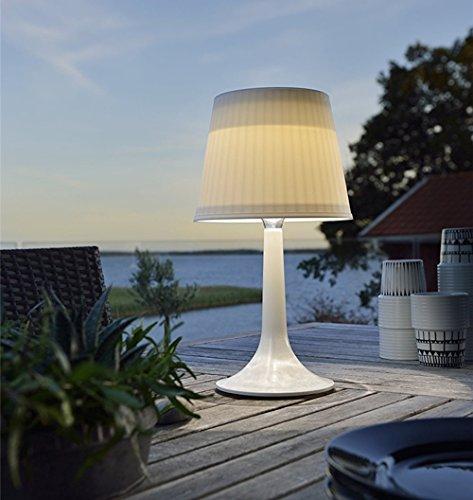 Lámpara LED de mesa solar para escritorio, luz blanca nocturna, luces de mesa para interiores y exteriores., plástico, Blanco 0.50W 1.20V