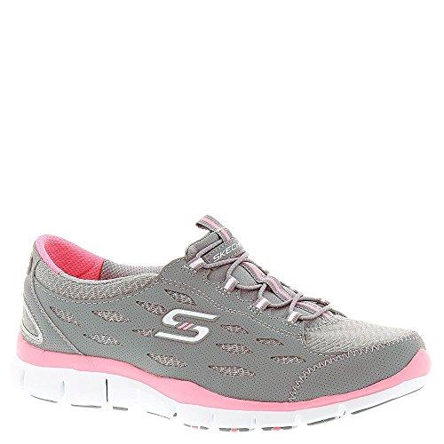 Skechers Sport Gratis Hit It Big Fashion Sneaker Gray Pink