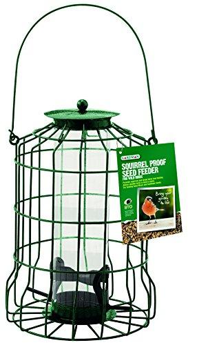 Gardman A01620 Eichhörnchensichere Futtersäule für Samenmischungen