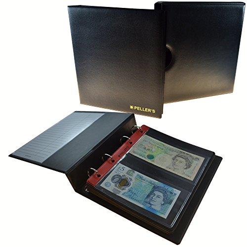 um mit Schutzkassette für 20 Banknoten: 10 Säure- und weichmacherfreie Hüllen, Felder 143 x 80mm. Banknotenalbum M. ()
