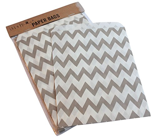 pack-of-25-party-sweet-chevron-zig-zag-bag-favour-birthday-gift-13x18cm-gray