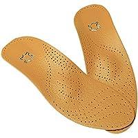 Yiwa Leder Orthotics Einlegesohle für Flache Fußgewölbe Orthopädische Silikon Einlagen für Damen und Herren preisvergleich bei billige-tabletten.eu