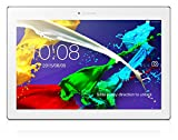 Lenovo TAB 2 A10-70 25,7 cm (10,1 Zoll Full HD IPS) Media Tablet (MediaTek MT8165 Quad-Core Prozessor, 1,7GHz, 2GB RAM, 16GB eMMC, 5MP + 8MP Kamera, Dolby Atmos Sound, Android 5.0.1) perlweiß