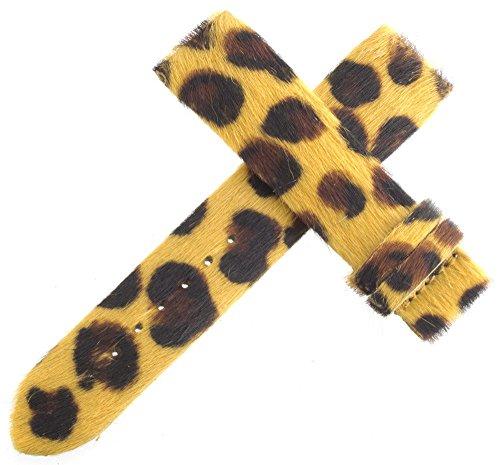 Authentic Van Der Bauwede gelb Leopard Muster Armbanduhr Band 18mm x 17mm