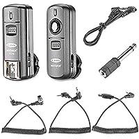 Neewer FC-16 Multi-Canaux 2.4GHz 3-en-1 Déclencheur Sans Fil à Flash / Flash Studio avec Télécommande pour Nikon D7100 D7000 D5100 D5000 D3200 D3100 D600 D90 D800E D800 D700 D300S D300 D200 D4 D3S D3X D2Xs