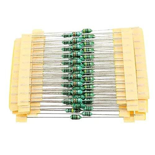 Rtyrytiiu Werkzeug 100pcs1 / 4W 1UH-1MH 1200pcs 12 Werte 0307 Farben-Qualitäts-Ring-Induktor-Satz allgemein benutzter Farbcode-Induktor jeder Wert Zubehör