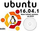 Ubuntu Linux 16 Full Operating System and Software DVD Disc - 64 Bit Latest Version Reinstall Install Computer Laptop