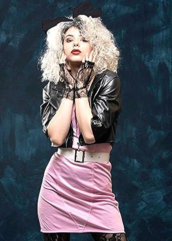 Costume de style Madonna Rose Rocker des années 1980 Medium (UK 12-14)