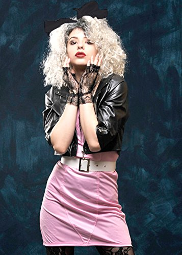 Damen 1980er Pink Rocker Madonna Style Kostüm Medium (UK ()