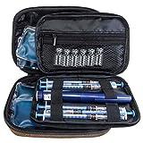 Insulina Borsa cool - Organizzatore diabetico - Custodia per dispositivo di raffreddamento portatile da viaggio + 4 impacchi di ghiaccio