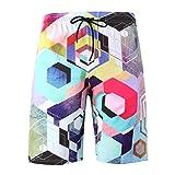 Uomo Costume da Bagno Elastico,Zarupeng- Uomini di Estate Nuovo Stile Moda 3D Stampato Shorts Sport ricreativi Spiaggia Pantaloni