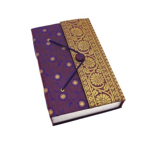 Fair Trade Tagebuch Sari extra groß 135 x 215 mm - lila (Tagebuch Lila)