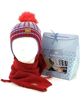 ROMEO GIGLI - Set de bufanda, gorro y guantes - para niño