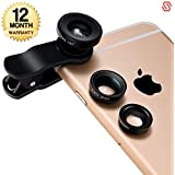 Supreno Universal 3 In 1 Magic Mobile Lens (Fish Eye, Wide Angle, Macro) Lens Suitable With All Android Or Iphone Devices (1 Year Warranty)
