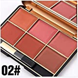 Best coloretes - Pure Vie® 6 Colores Cara Polvos Coloretes/Blush Paleta Review