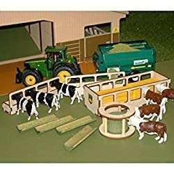 BRUSHWOOD TOY FARM BT2060 LIVESTOCK FEEDER SET