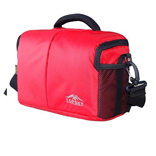 Pacchetto di foto di caratteristica di sport all'aria aperta/ borsa per fotocamera digitale SLR/ borsa fotocamera digitale di spalla-lanciato-Rosso Rosso