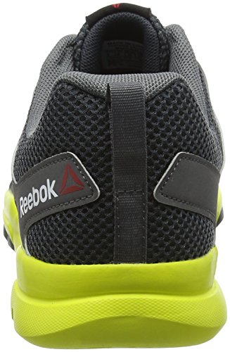 Reebok Sublite Train 4.0, Chaussures Multisport Outdoor Homme Multicolore (Alloy/Nocturnal Grey/Hero Yellow)