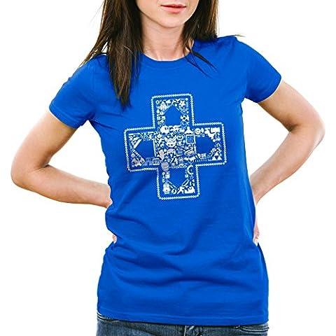 style3 PLAY Camiseta para mujer T-Shirt gamer game videojuego
