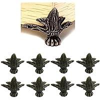 Paquete de 8 esquinas de bronce de aleación de zinc antigua esquina decorativa de muebles para estantes de caja de madera patas de tabla 40 * 30 mm con tornillos