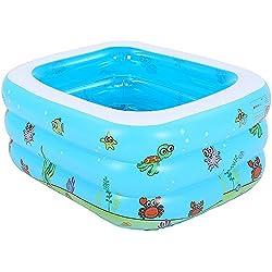 Pumpink El baño Hinchable para niños Grandes bañera Inflable se Puede sentar Tumbado Bañera para bebés Cubo para bebés Barril Niño Piscina portátil Plegable (tamaño : Pool 105 * 85 * 38cm)