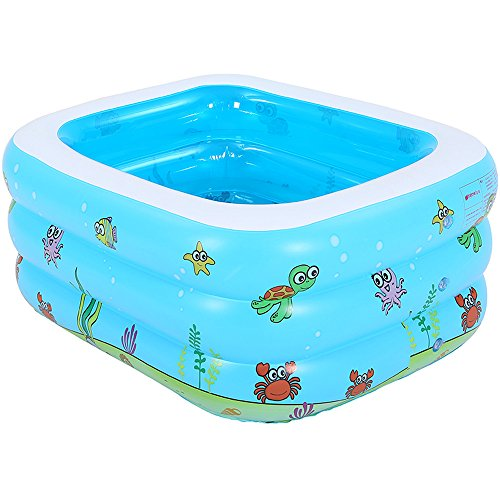 Pumpink El baño hinchable para niños grandes bañera inflable se puede sentar tumbado Bañera para bebés Cubo para bebés Barril Niño Piscina portátil plegable ( tamaño : Pool 105*85*42cm )