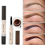 Eye Brow Dye Pomade crema sopracciglio minerali matita a lunga durata impermeabile marrone tinta Paint Henna set makeup kit